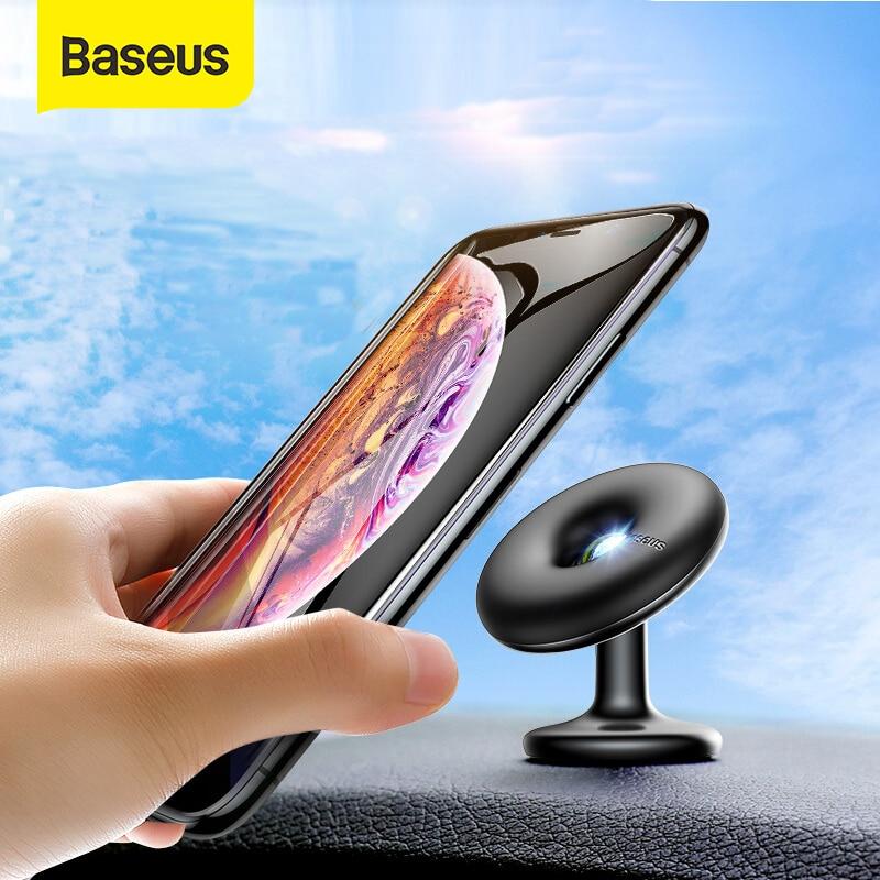 Baseus Voiture support pour téléphone 360 Degrés Air Évent support socle voiture Support pour iPhone X 7 Samsung pour Téléphone Portable support magnétique