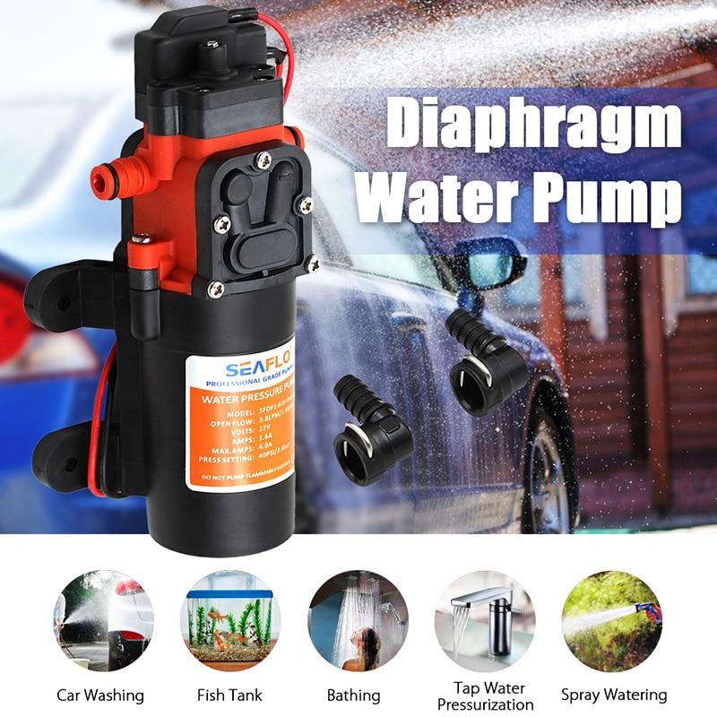Микро электрический мембранный Водяной насос высокого давления самовсасывающий автомобильный моющий Спрей Водяной насос 35PSI 4.3L/мин 12В автоматический переключатель