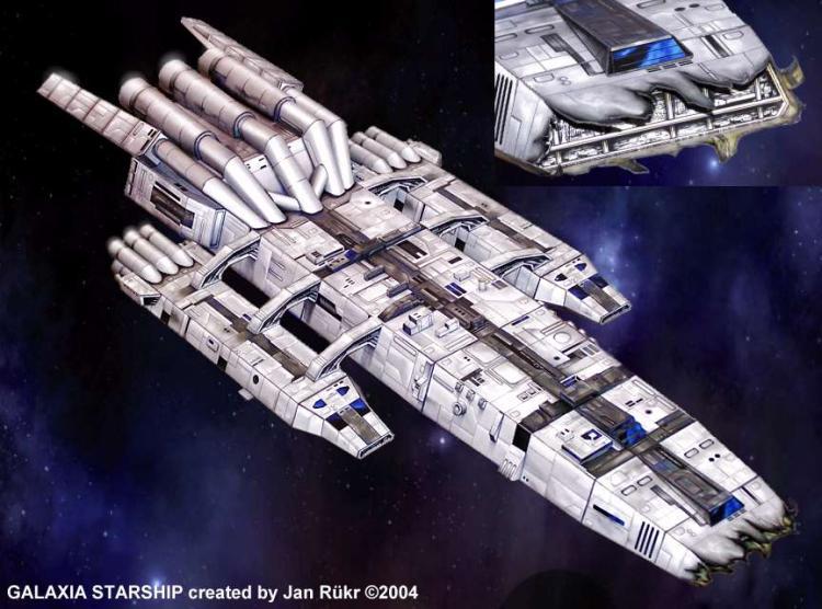 -Battlestar Galáctica (nave madre) modelo de papel 3D Diy