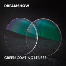 1.56/1.61/1.67/1.74 vert revêtement optique asphérique lentille transparente myopie hyperopie résine CR-39 verres de Prescription lentilles