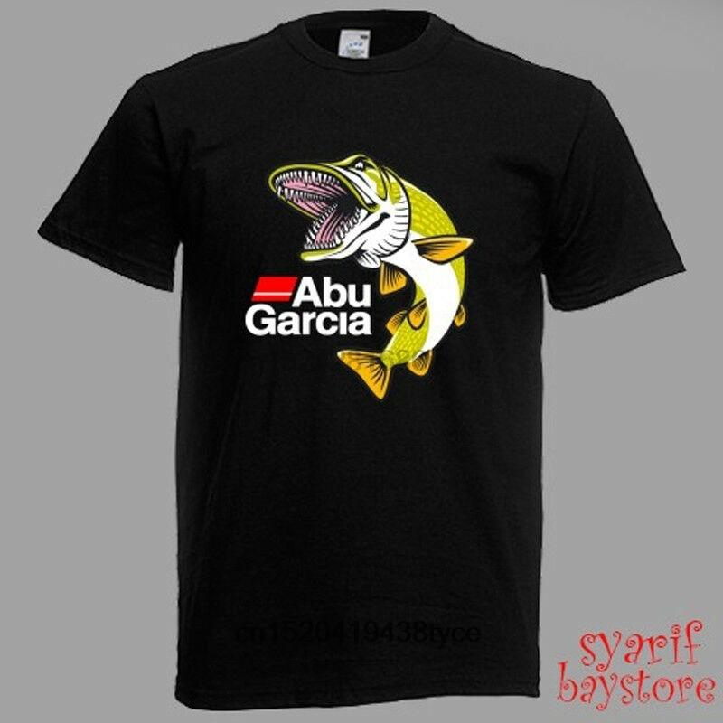 Gran oferta de los hombres t camisa Abu Garcia pez grande logotipo...