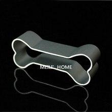 Molde de aluminio para decoración de pasteles, galleta con forma de hueso, molde de lata para horno 2701