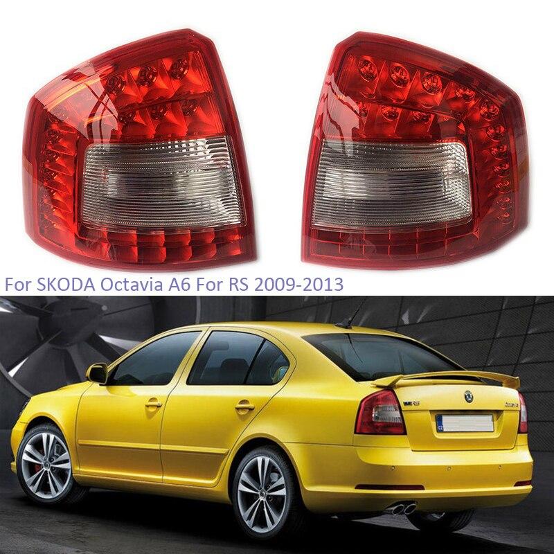 Luz trasera LED YTCLIN para SKODA Octavia A6 Para RS 2009 2010 2011 2012 2013 luz trasera de freno luz de freno estilo de coche
