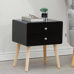 Bedside Table Nightstands Cabinet Storage Bedside Table With Sliding Drawers Night Table Bedroom Nightstand Home Furniture