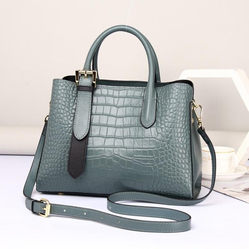 Роскошная сумка из натуральной кожи, Модная элегантная женская сумка с верхней ручкой, рабочая женская сумка через плечо, сумка-тоут