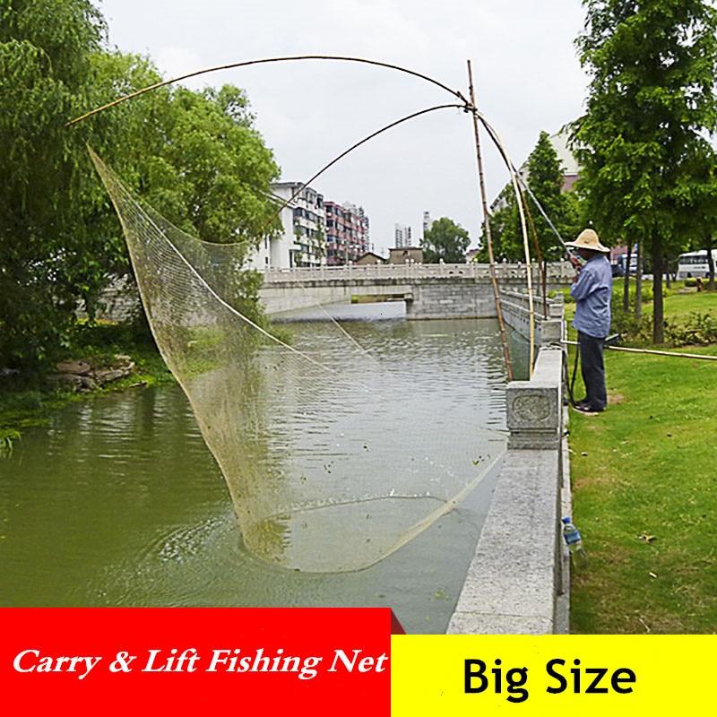 Red de pesca plegable de gran capacidad al aire libre automática de pesca