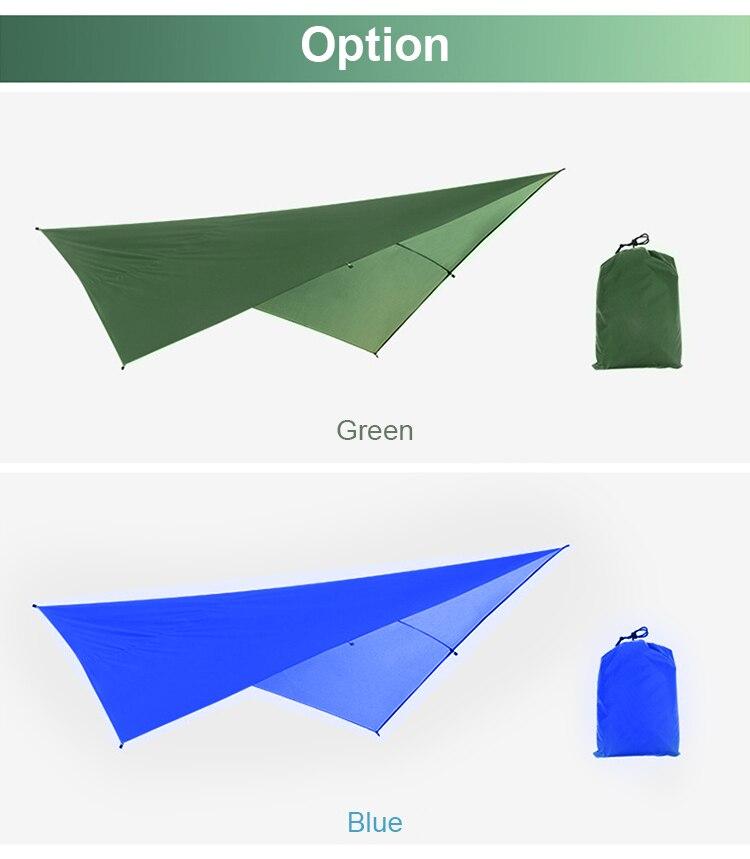 3X3M солнцезащитный тент, навесной тент для пляжа, открытый водонепроницаемый тент, гамак, дождевик, ультралегкий УФ навес для сада, солнцезащ...