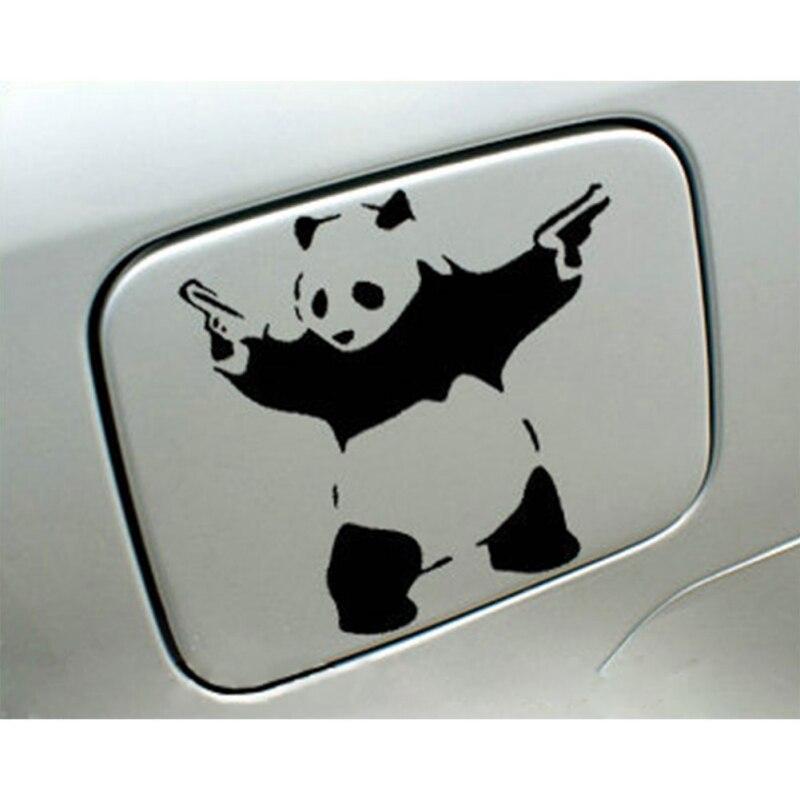 2019 personalidad reflectante cola pegatina palo de advertencia pistolas dobles Kung Fu Panda pegatina Auto productos nuevos