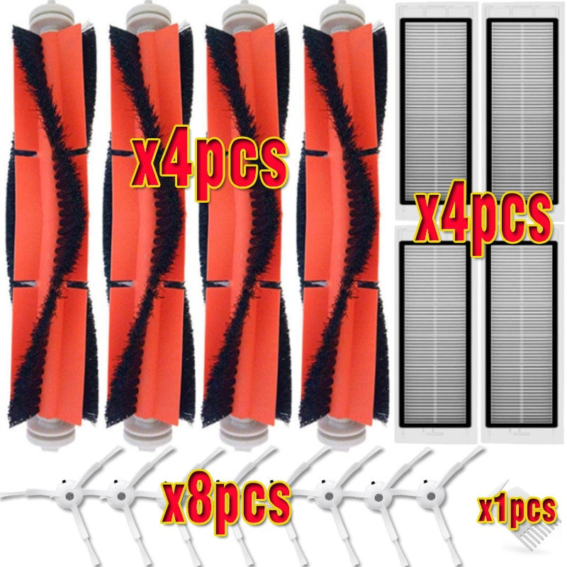 HEPA Filter Side Brush Main Brush for XIAOMI MI Robot 1/2 Generation Roborock S50 S51 S55 Vacuum Cleaner Parts replacement