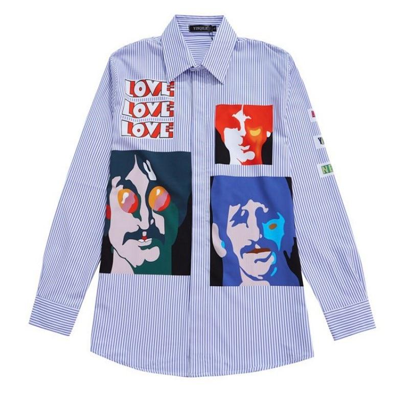 جديد 21 الرجال القطن الكلاسيكية الأزرق مخطط الحب موضة القطن قمصان عادية قميص عالية الجودة جيب طويلة الأكمام قمة م 2XL # D142