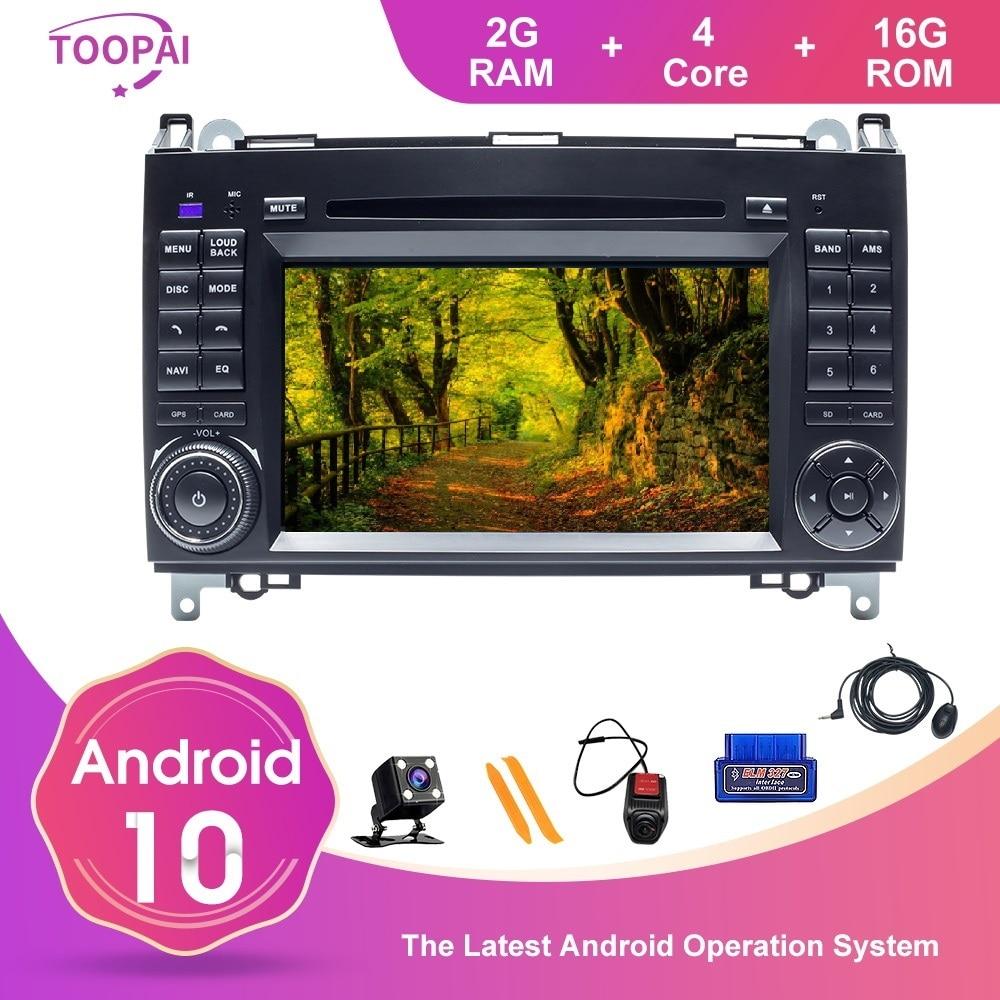 TOOPAI Android 10 para Benz W169 W245 B160 B170 B200 W639 Vito W906 Sprinter Auto reproductor Multimedia GPS Navi DVD Auto Radio estéreo