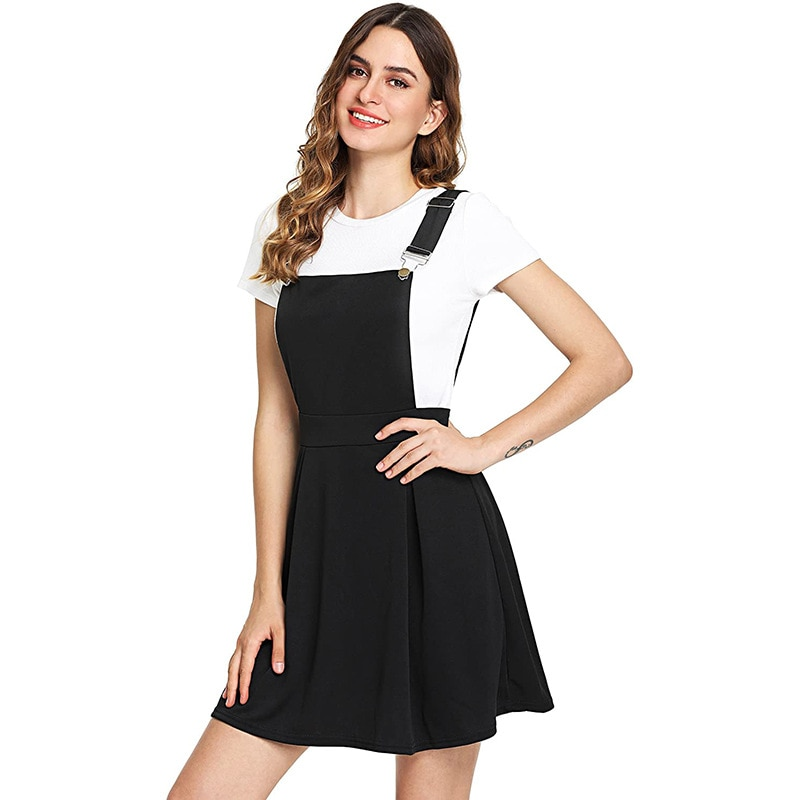 Mr.nut 2021 New Japanese and Korean fashion trend solid color Street metal strap skirt girls' dress group