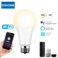 B22 E27 E26 9W WiFi ampoule intelligente  lampe LED rvb reglable avec application DoHome  commande vocale pour Google Home  Alexa