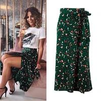 long skirts women high waist midi skirt retro printing high waist skirt sexy party skirt woman summer skirt womens skirt 2021