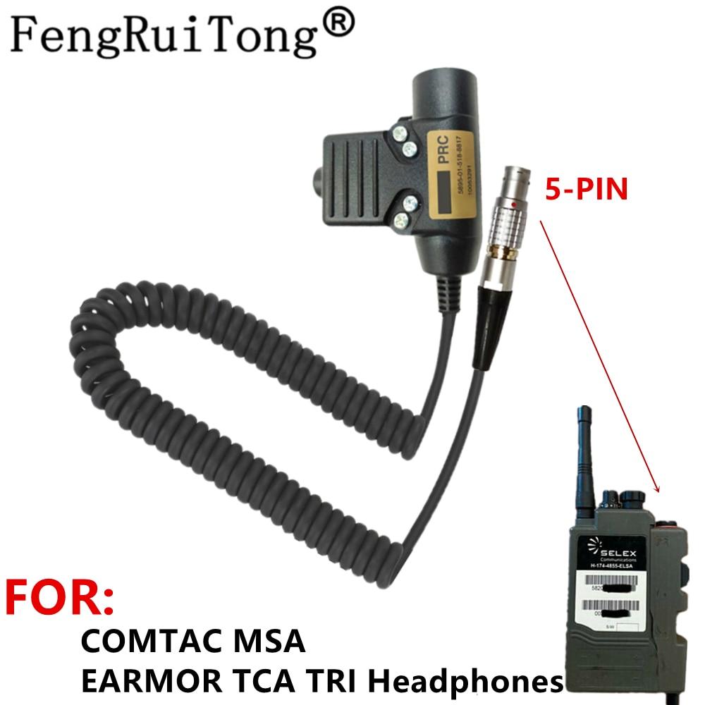 Tactical U94 PTT Headset Accessory PTT For COMTAC MSA EARMOR TCA TRI Headphones for Selex  H4855 Radio, Bowman PRR radio PRC343
