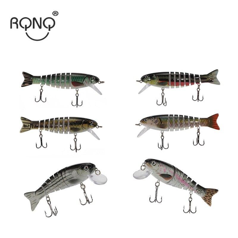 Rqnq 8 segmento isca de pesca dura 11cm17g peixe isca artificial