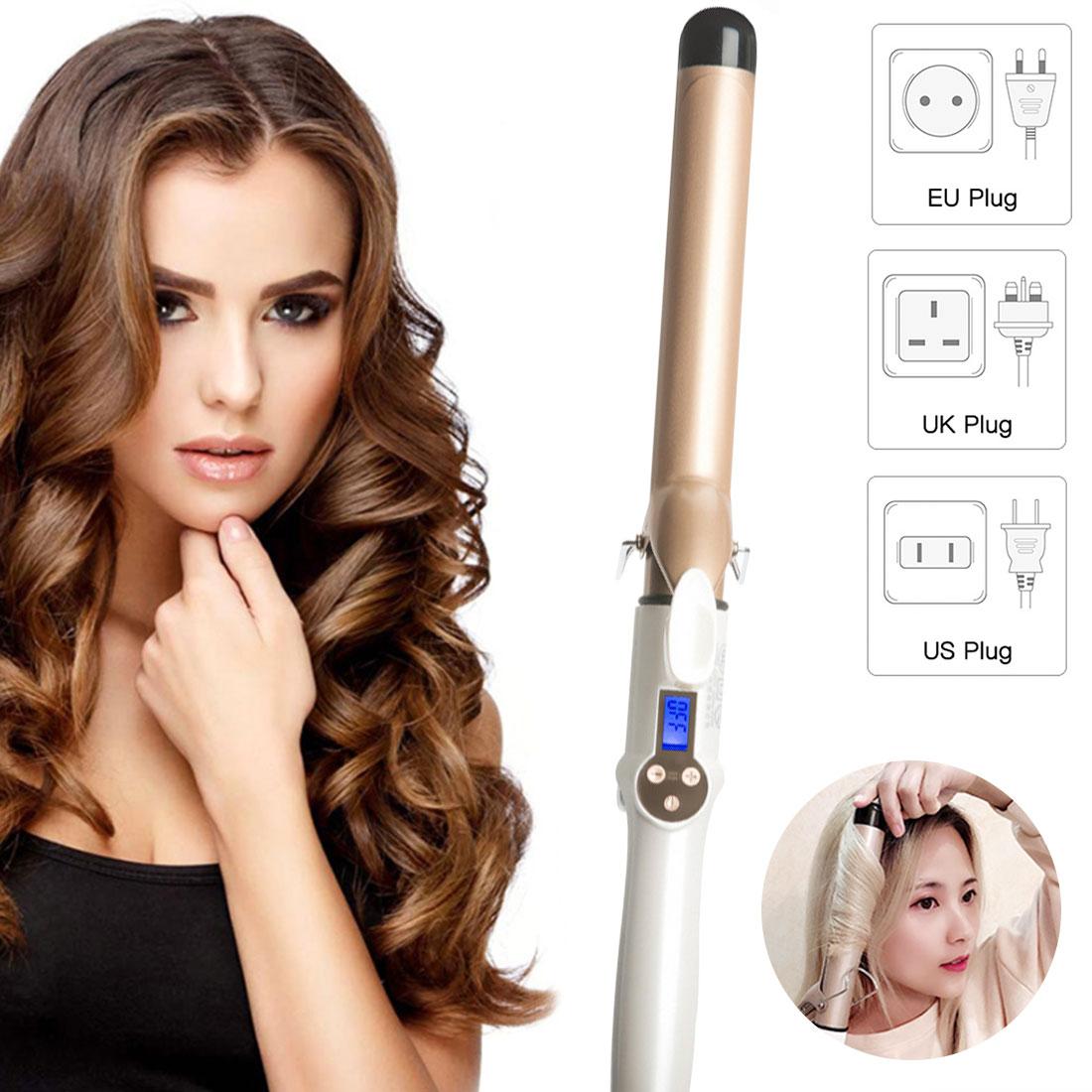 ferro de ondulacao ceramica eletrica modelador de cabelo profissional lcd estilo