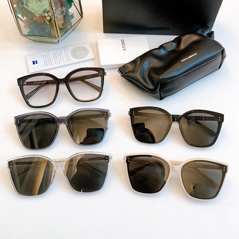 2021 جديد العلامة التجارية الكورية تصميم النساء لطيف النظارات الشمسية القط العين مكبرة الرجال المتضخم نظارات شمسية للنساء جنرال موتورز Gabee ال...
