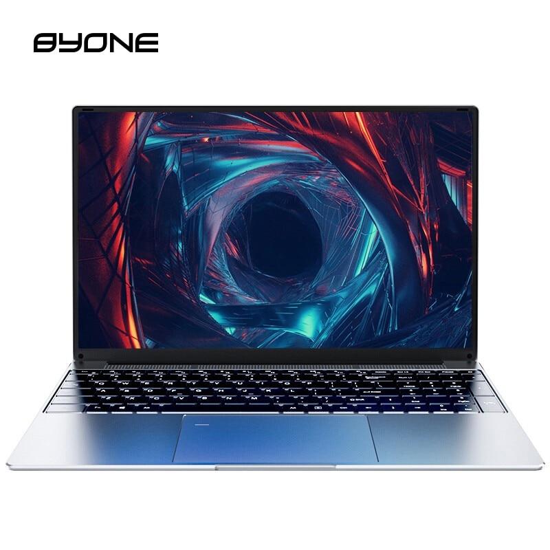 Byone-notebook portátil fino, computador portátil, tela ips, 8gb ram, 15.6 gb e 1920 gb, processador intel celeron j3455, fhd (1080x256)