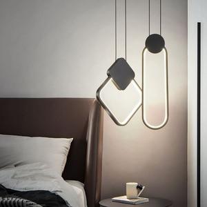 BEIAIDI Modern Minimalist LED Pendant Light Restaurant Cafe Bar Table Bedside Pendant Lamp Home Parlor Dinning Cord Hanging Lamp