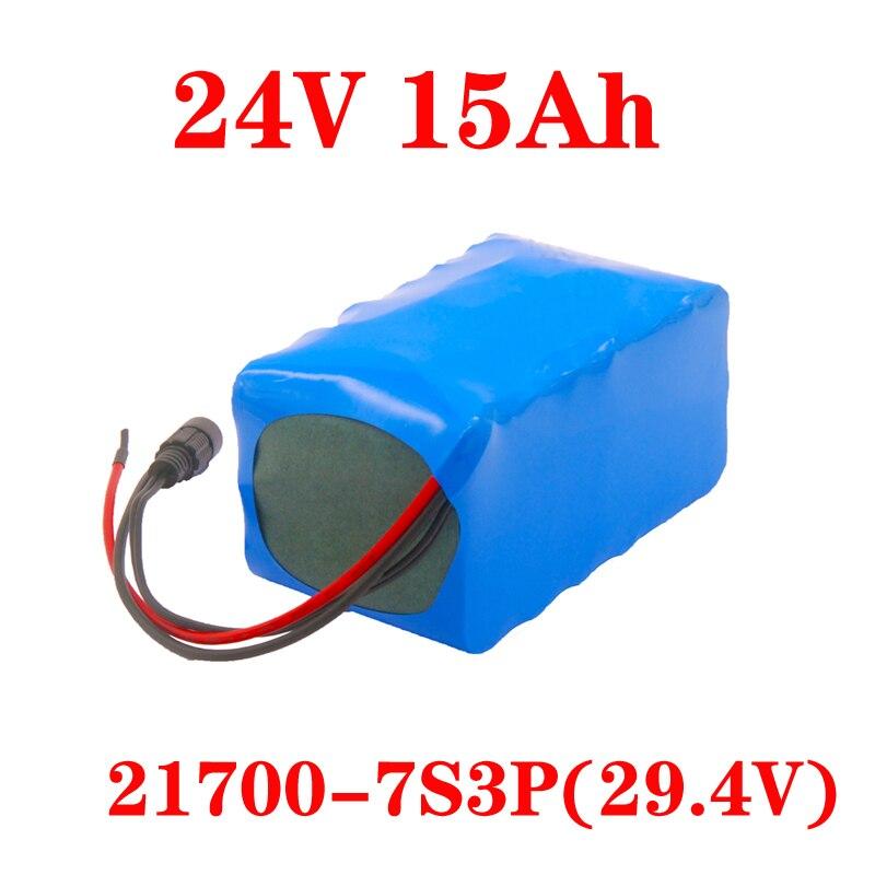 بطارية LiitoKala 24 فولت 15ah بطارية 21700 5000mAh 7S 15A BMS 250 واط 29.4 فولت حزمة بطارية لمحرك متحرك طاقة كهربائية