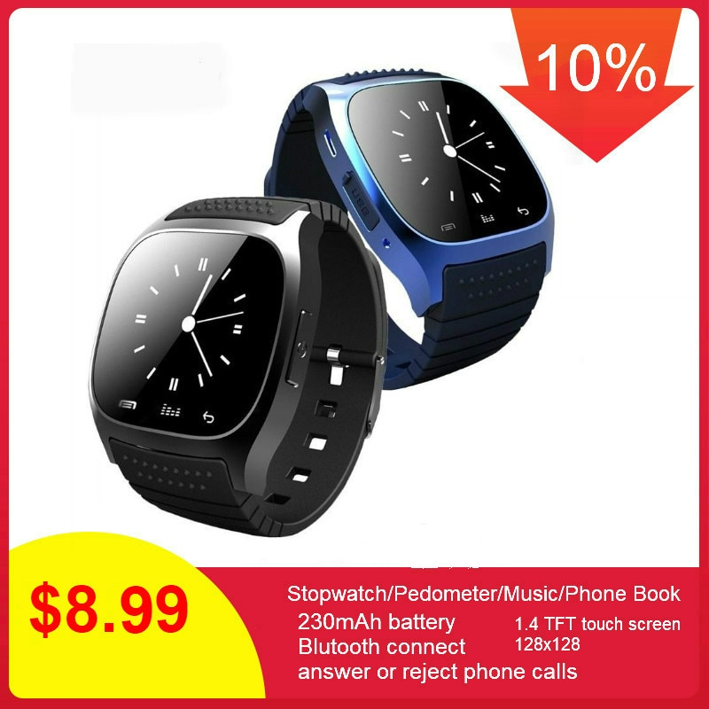 Reloj inteligente M26 a prueba de agua 696, reloj inteligente con Bluetooth, pantalla LED impermeable diaria para teléfono Android