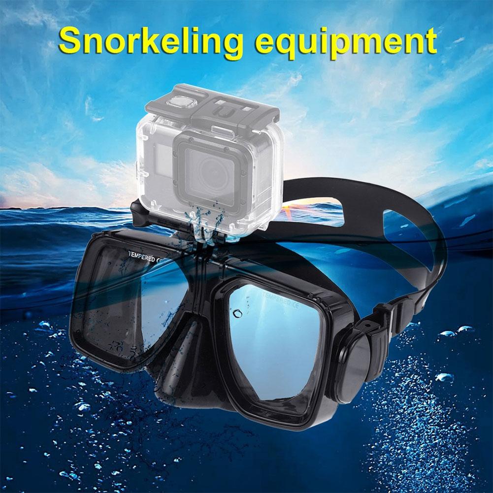 Máscara de mergulho óculos de natação óculos de mergulho para dji osmo ação à prova dwaterproof água antifogging óculos com caixa eva equipamento de mergulho