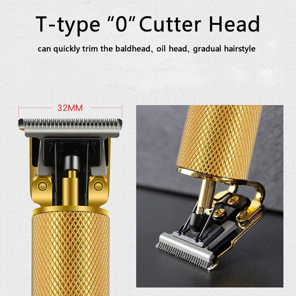 Rechargeable Oil Head Trimmer Haircut Machine Men Electric Hair Clipper Barber Shaver T-Blade Hair Cutting Styling Shaving Tool enlarge