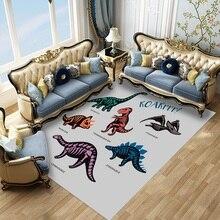 Tapis personnalisé avec dessin animé animaux   Tapis imprimé en 3D de dinosaure, décoration de chambre à coucher pour enfants, tapis de sol, tapis de porte dentrée pour la maison, tapis de cuisine pour bain