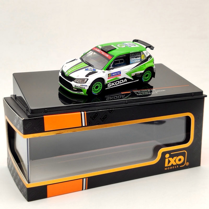 IXO 1:43 For Skoda Fabia R5 #41 Rally Finland 2018 RAC684  Diecast Model Car Limited Edition Collection ixo altaya 1 43 scale ford mustang shelby gt 350h 1965 cars diecast toys models limited edition collection white