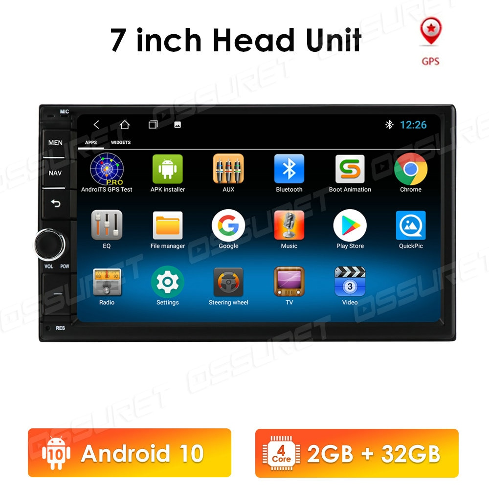 Android 10 2 Din Car radio Multimedia Video Player Universal auto Stereo GPS MAP For Nissan Hyundai Kia toyota