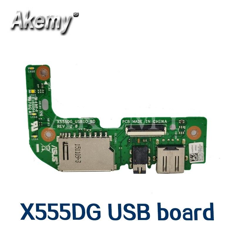 Amazoon Original para For Asus X555 X555DG USB IO de AUDIO placa...