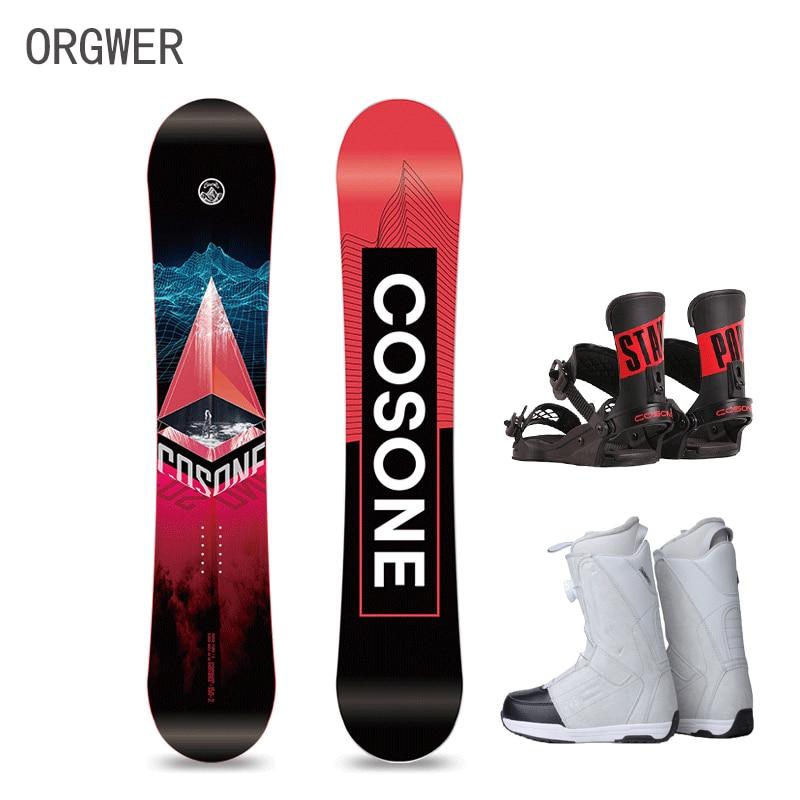 Orgwer Snowboard all-round alpine ski veneer + ski shoes + holder, complete equipment-0012