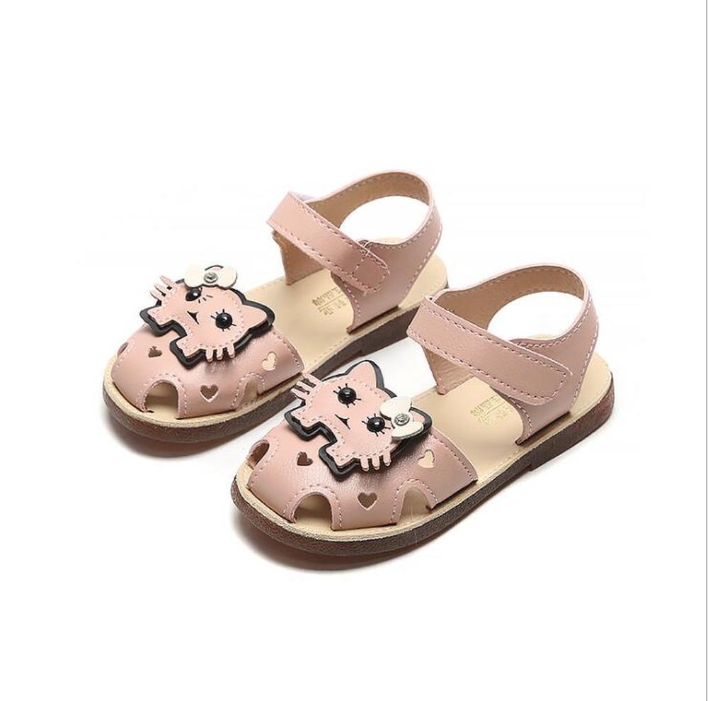 2020 Summer Children Sandals for Girls PU Leather Floral Princess Orthopedic Shoes Closed Toe Toddler Kids Girls Sandals