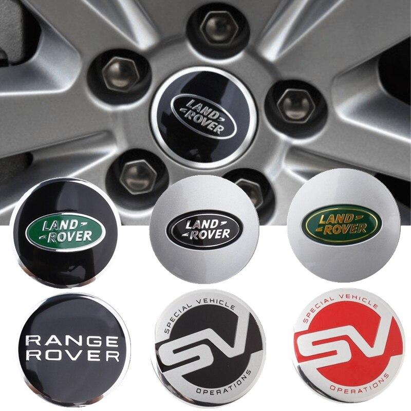 62mm de aleación para tapacubos centrales de coche cubierta de cubo accesorios para el descubrimiento del Range Rover Sport Evoque L322 Vogue Velar