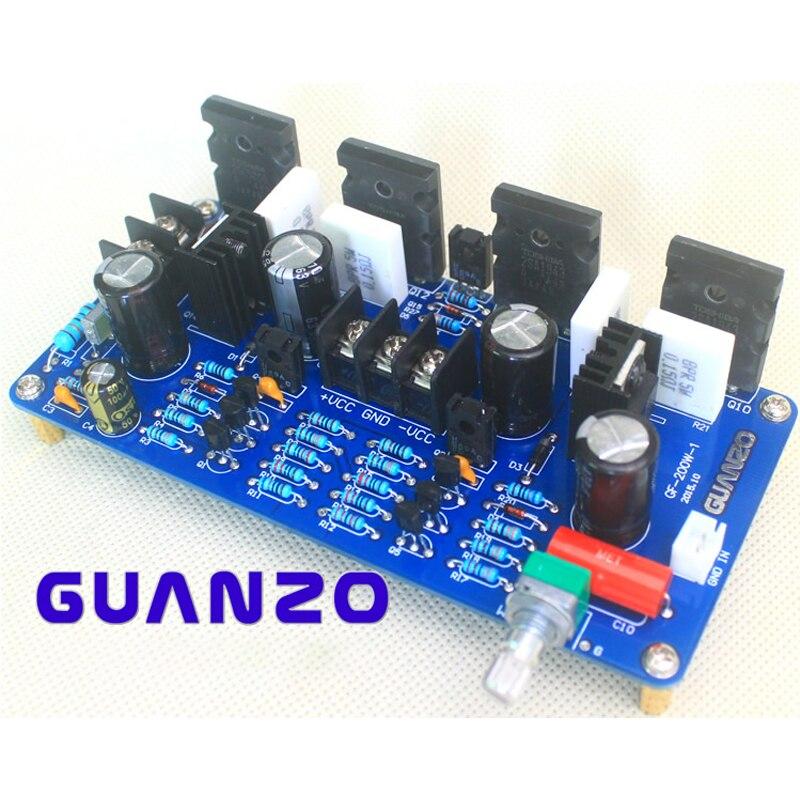 Placa amplificadora Mono de 200W KYYSLB, tubo de fiebre 5200 1943, componentes discretos de doble paralelo de alta potencia, piezas de amplificador
