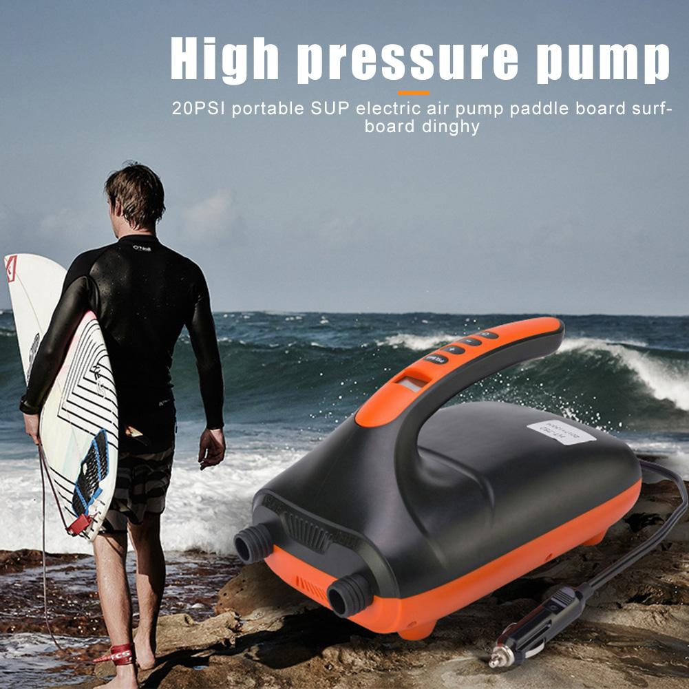 12V Max 20 PSI Portable SUP Intelligent Inflatable Pump Electric Air Pump Dual Stage For Outdoor Paddle Board Rubber Boat enlarge