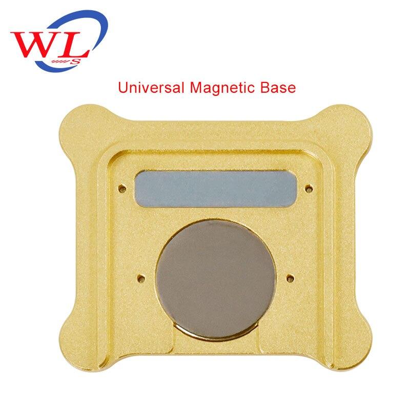 WL tienda oficial para iPhone A6 A7 CPU de banda Base NAND BGA Reballing Tin Net plantillas con Base magnética de posicionamiento