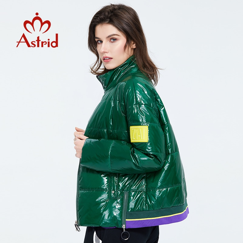 Astrid 2020  Весенняя женская парка  пальто  теплая куртка женская тонкая хлопок яркие цвета  короткое пальто  свободное стоячий воротник  ZM-3073