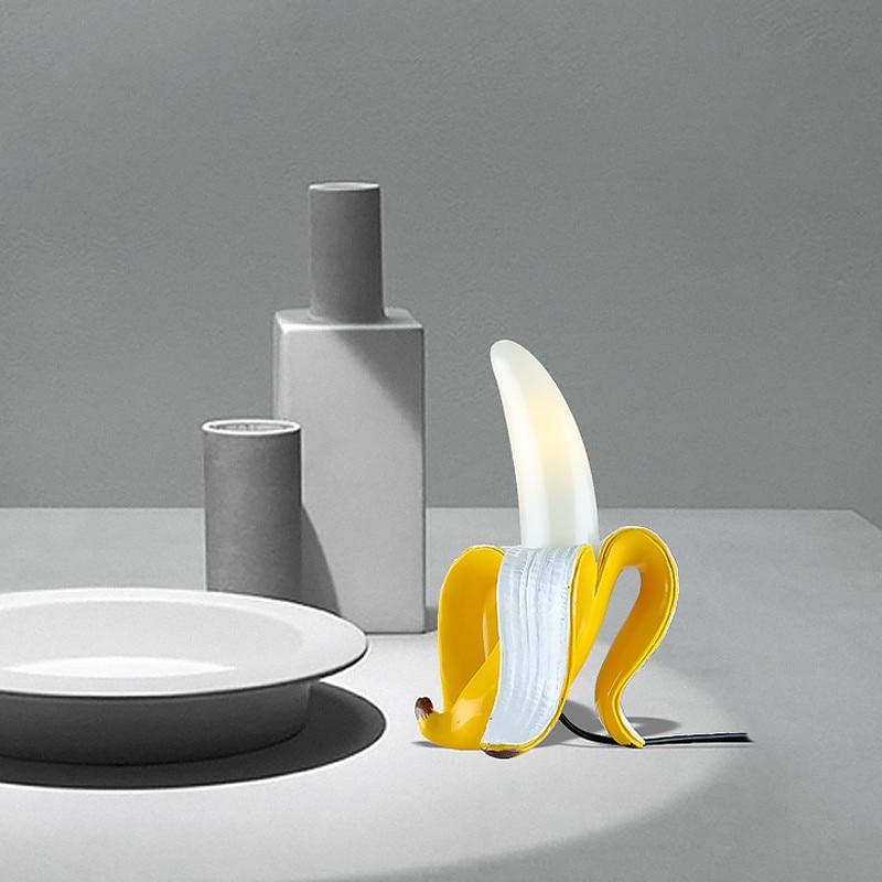Table Lamp Fruits Banana Night Lights Desk Lamp  Led Bedroom Bedside Living Room Glass Modern Italy Home Decor Lighting Fixtures enlarge