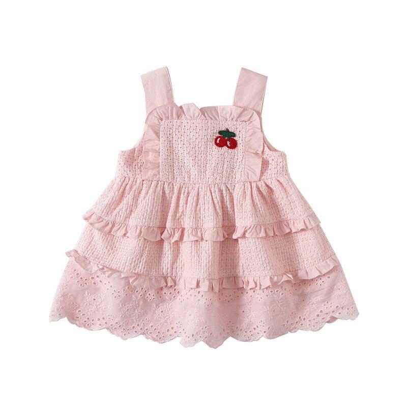 لوتس-فستان الأميرة للفتيات الصغيرات ، ملابس الربيع والصيف ، تطريز أحمر ، فستان حفلات أعياد الميلاد ، 2020