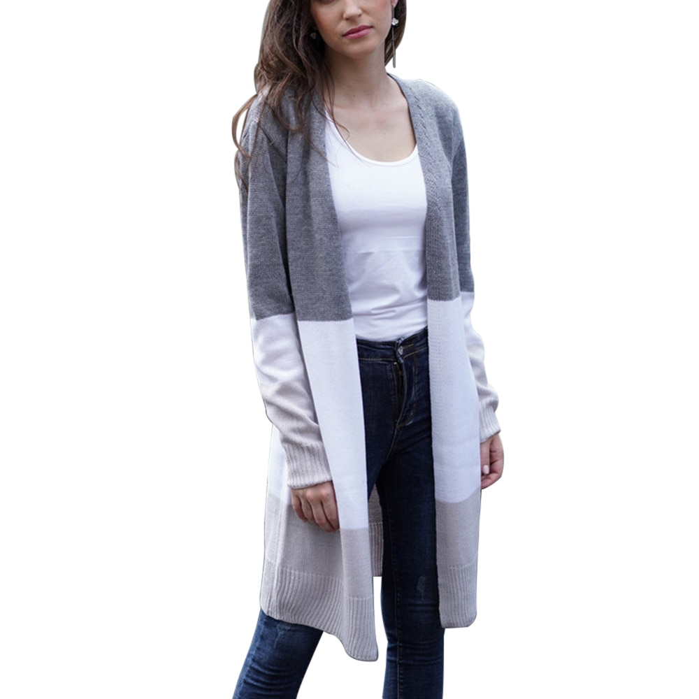 Cardigans blusas de malha feminina outono fino sexy cardigan camisola de algodão longo streetwear casaco casual feminino plus size 3 cores