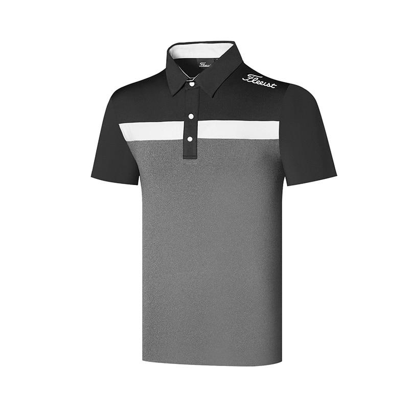 Одежда для гольфа для мужчин, мужская спортивная рубашка, дышащая сухой крой футболка для мужчин, поло-рубашка, одежда для гольфа