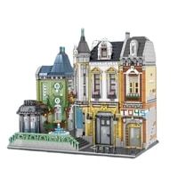 ug10188 hospital classic creative street view series moc cuba hotel small particles assembled building block toys kids gift