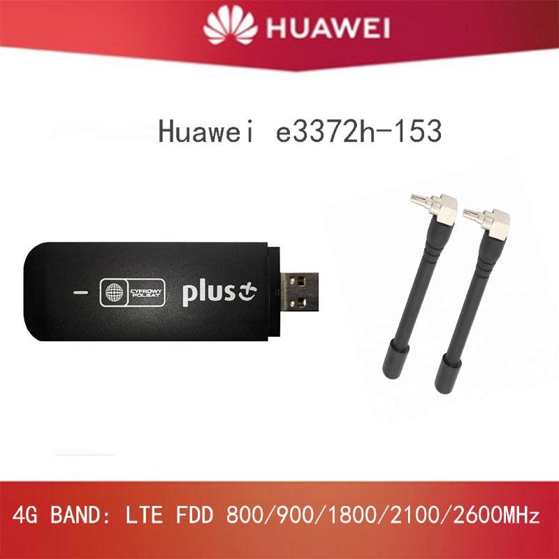 مقفلة هواوي E3372 E3372h-153 4G LTE USB دونغل USB عصا Datacard موبايل برودباند USB مودم 4G مودم