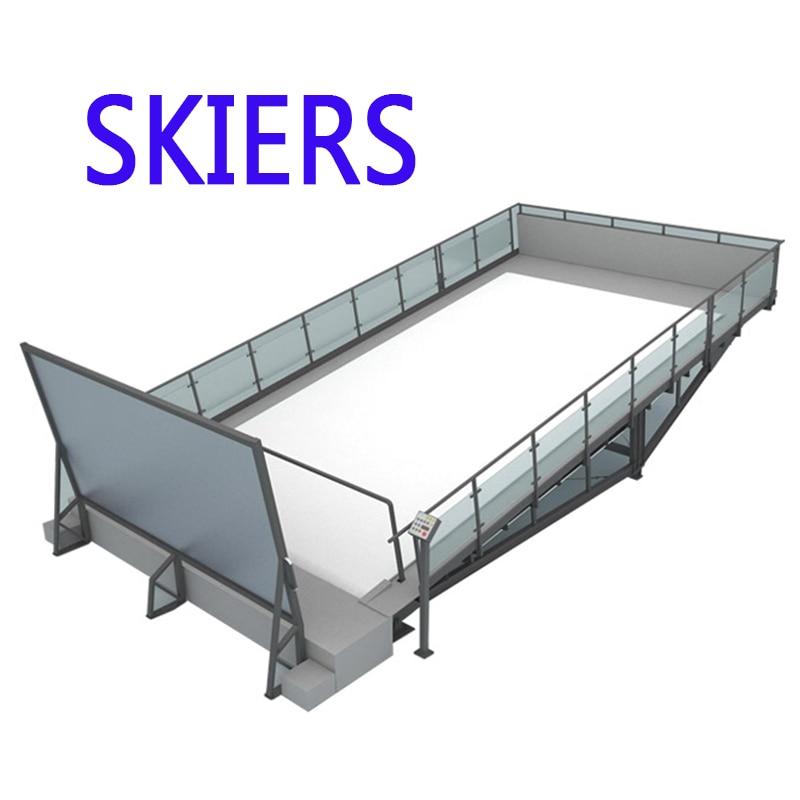Pistas de esquí de interior sin fin, pistas secas para interior, snowboard, esquí en nieve, pistas de esquí, simulador de atracción de esquí