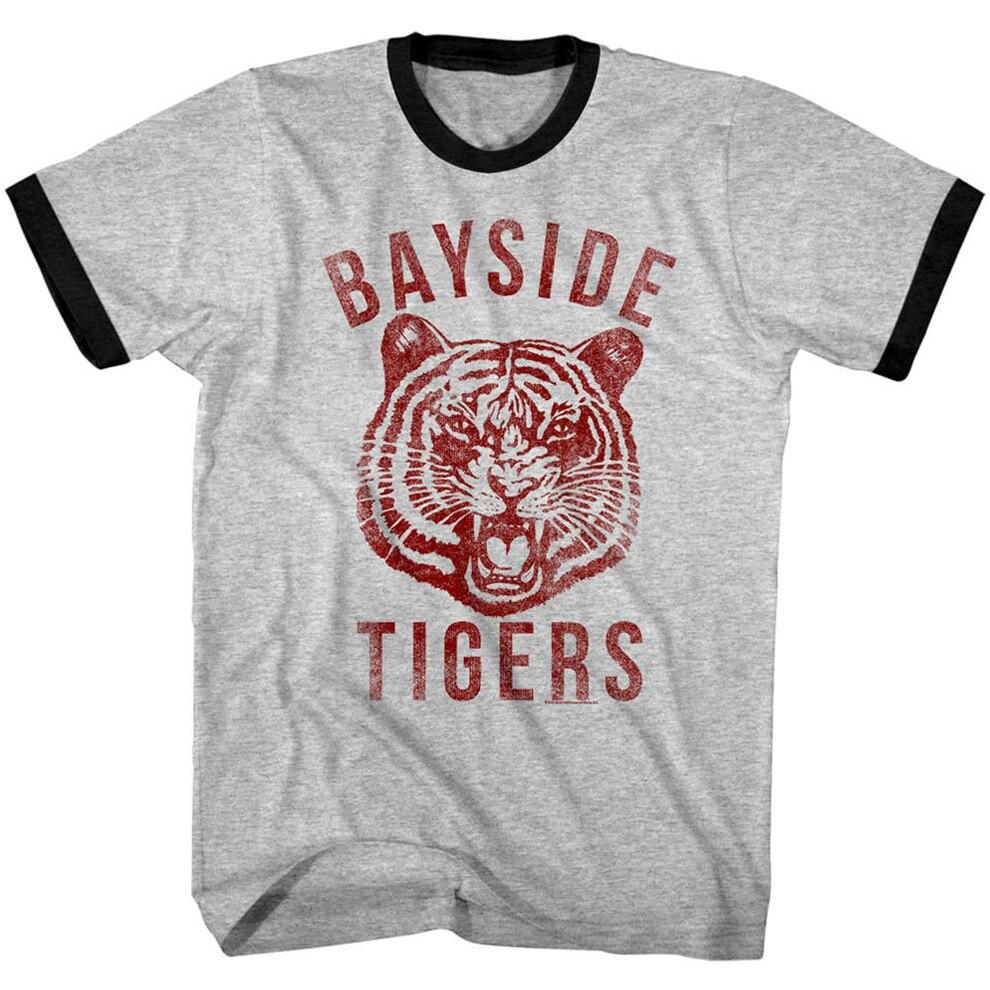 Camiseta para hombre de atletismo guardada por La Campana Bayside Tigers, camiseta de tamaño grande para escuela secundaria, camiseta divertida Ajax