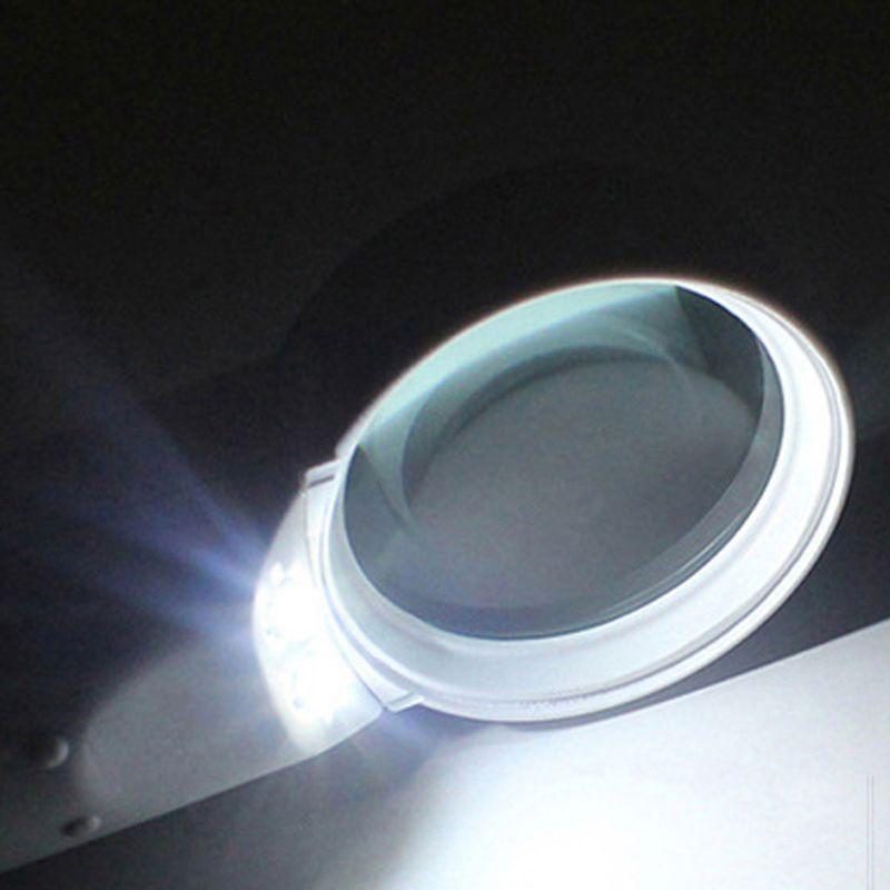 15X портативный лупа с подсветкой высокое увеличение стекло 2 светодиоды фонари портативный карман обновленный для пожилых людей чтение штамп карта