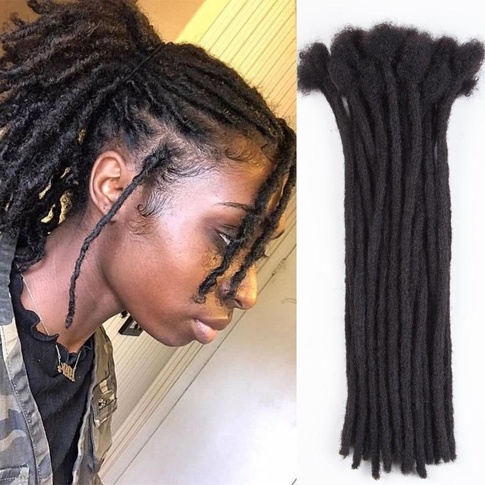 Brazilian 100% Human Hair Braids Dreadlocks 0.6CM crochet braiding hair Can Be Dye Remy Human Hair Extensions