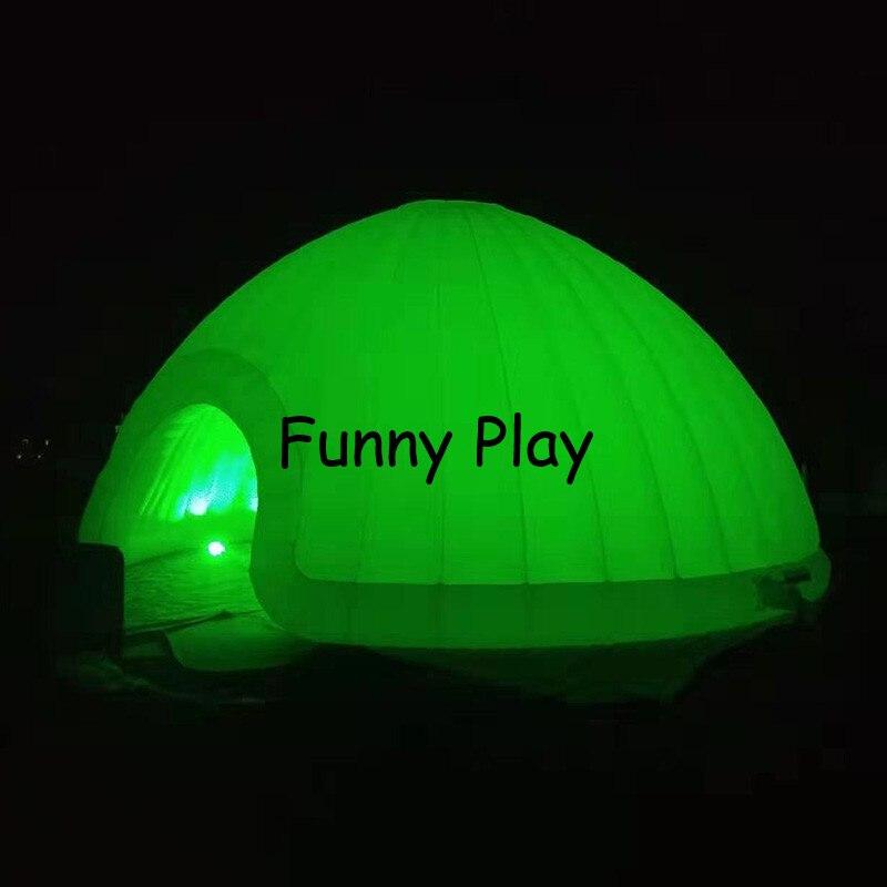 خيمة قبة LED قابلة للنفخ ، كوخ الإسكيمو مع إضاءة LED للحفلات ، رخيصة وجميلة